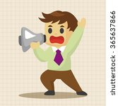 businessman deliver the speech... | Shutterstock .eps vector #365637866