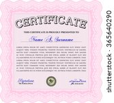 certificate template or diploma ...   Shutterstock .eps vector #365640290