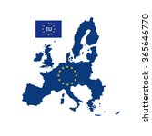 european union map with flag | Shutterstock .eps vector #365646770