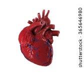 3d rendered human heart... | Shutterstock . vector #365646980