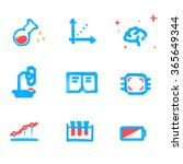 lowpoly tech and science icons | Shutterstock .eps vector #365649344