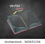 color vector chalk drawing of...   Shutterstock .eps vector #365651156