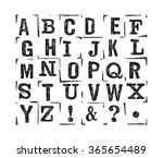 vector latin alphabet. vector... | Shutterstock .eps vector #365654489