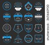 set of skateboarding logo ... | Shutterstock .eps vector #365660930