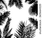 background with palm trees.... | Shutterstock .eps vector #365664320
