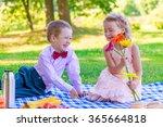 gentleman and a happy little... | Shutterstock . vector #365664818