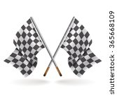 two formula one flags isolated ... | Shutterstock .eps vector #365668109
