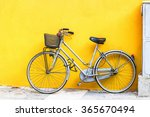 Old Style Bicycle Parked...