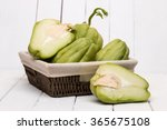 Close View Of A Chayote Fruit...