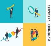 teamwork  connection  key... | Shutterstock .eps vector #365683853