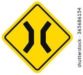 narrow bridge . traffic sign | Shutterstock .eps vector #365686154
