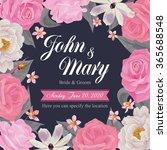 flower wedding invitation card  ...   Shutterstock .eps vector #365688548