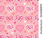 vector seamless heart pattern   ... | Shutterstock .eps vector #365688890