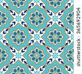 portuguese azulejo. white and... | Shutterstock .eps vector #365692904