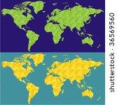 fully editable vector world map ... | Shutterstock .eps vector #36569560