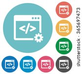 flat web development icon set...
