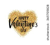 happy valentine's day greeting... | Shutterstock .eps vector #365705828