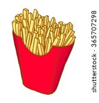painted french fries  vector... | Shutterstock .eps vector #365707298