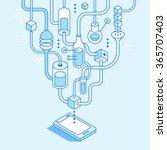 vector mobile app development... | Shutterstock .eps vector #365707403
