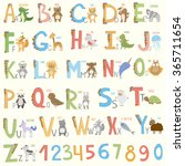 alphabet with  cartoon animals....
