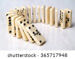 Group Of Domino Tiles In A...