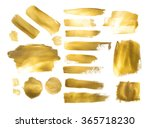collection of golden paint... | Shutterstock . vector #365718230