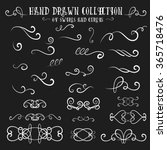unique collection of hand drawn ... | Shutterstock .eps vector #365718476
