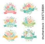 wedding vintage elements... | Shutterstock .eps vector #365718884