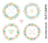 wedding vintage elements... | Shutterstock .eps vector #365718890