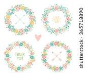 wedding vintage elements...   Shutterstock .eps vector #365718890