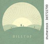 vector minimal poster  hilltop | Shutterstock .eps vector #365722700