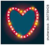 realistic retro red heart frame ... | Shutterstock .eps vector #365730428