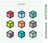 set of minimal geometric... | Shutterstock .eps vector #365735108