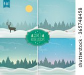 winter background. new year and ... | Shutterstock .eps vector #365748458
