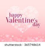 valentines day light background ... | Shutterstock .eps vector #365748614