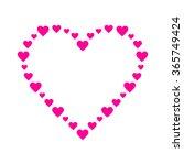 pink heart | Shutterstock .eps vector #365749424