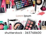 sets of cosmetics on white... | Shutterstock .eps vector #365768600