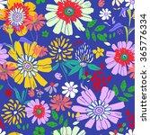 seamless floral pattern.... | Shutterstock .eps vector #365776334