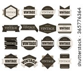 label vintage collection. | Shutterstock .eps vector #365776364