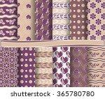 set of abstract vector paper... | Shutterstock .eps vector #365780780
