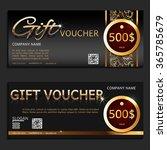 gift voucher. vector ... | Shutterstock .eps vector #365785679