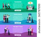 teamwork horizontal banners... | Shutterstock .eps vector #365787050