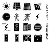 "set of vector icon ""solar power"" 