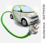 electronic car with plug... | Shutterstock .eps vector #365794550