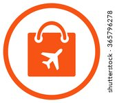Duty Free Shopping Vector Icon...