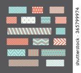 patterned tapes set. vector... | Shutterstock .eps vector #365799974
