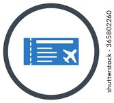 airticket vector icon. style is ... | Shutterstock .eps vector #365802260