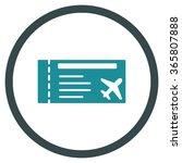 airticket vector icon. style is ... | Shutterstock .eps vector #365807888