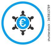 euro collaboration vector icon. ... | Shutterstock .eps vector #365813789
