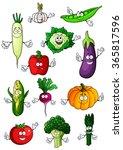 fresh tomato  eggplant  bell... | Shutterstock .eps vector #365817596